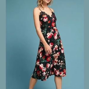Anthropologie Foxiedox Autumnal Slip Floral Dress